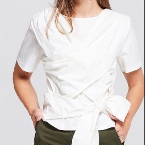 NWT -Storets - Kate Harf Sleeve Wrap Blouse